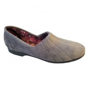 Womens Audrey Grey Slip On Slippers