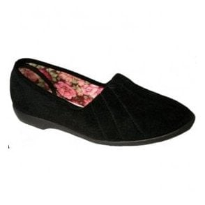 Womens Audrey Black Slip On Slippers