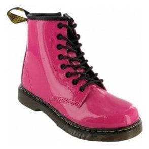 Brooklee Pink Patent Leather Kids Boots 15373670