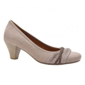 Womens Gateway Heeled Beige Court Shoes 25.481.33