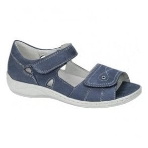 Womens Hilena Denver Blue Velcro Sandals 582028 191 206