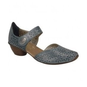 Womens Crease Denim Casual Mary Jane Shoes 43711-12