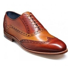 Mens Grant Rosewood/Cedar Brogue Lace Shoes