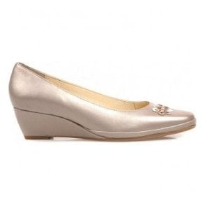 Womens Port Almond Wedge Heel Court Shoes