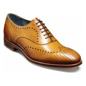 Mens Truman Cedar Calf Brogue Shoes