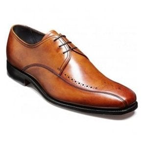 Mens Worthing Rosewood Calf Semi-Brogue Shoes