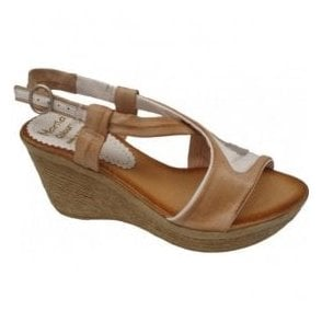 Womens White/Tan/Silver Cross-Straped Sandals