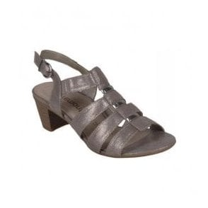 Womens Gold Buckle Up Sandals R9250-42
