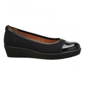 Womens Orient Black Two-Tone Slip On Pump 86.471.87