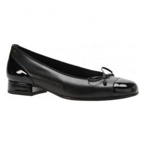 Womens Emporium Black Pump Shoes With Bow 06.102.67