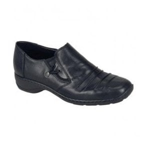 Cristallin Black Slip On Shoes 58353-00