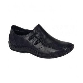 Cristallin Black Casual Slip On Shoes L1762-00