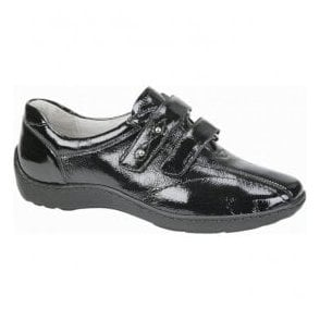 Womens Henni Black Patent Velcro Shoes 496301 143 001