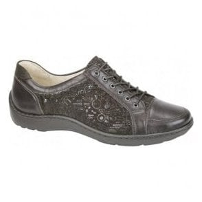 Womens Henni Brown Lace Up Shoes 496005 400 420