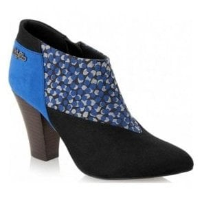 Womens Erika Blue Zip Shoe-Boots