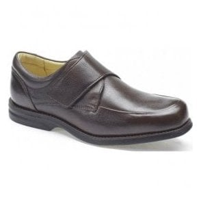 Mens Tabajara Brown Leather Velcro Casual Shoes