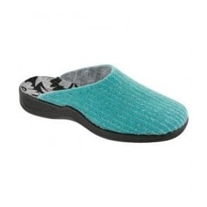Womens Turquoise Washable Mule Slippers 7711 53