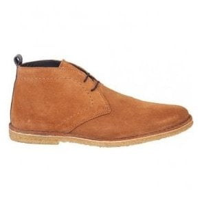 Mens Crowley Tan/Navy Suede Desert Boots