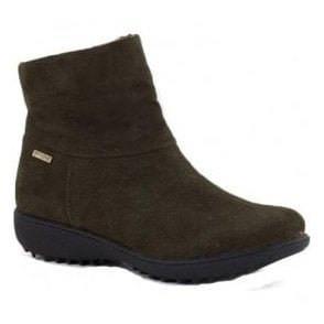 Womens Nadja 101 Carbon Suede Ankle Boots