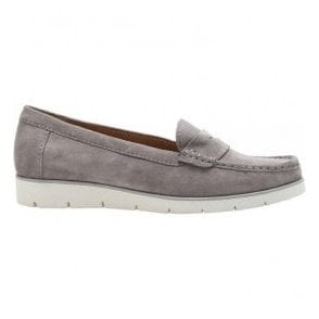 Womens Portland Grey Slip On Wedge Shoes 44.220.19