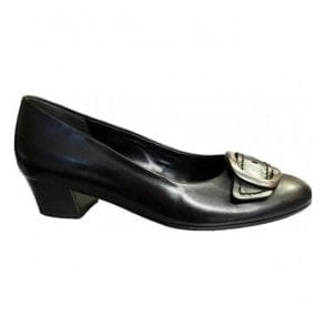 Womens Face Black Slip On Court Shoes 42.203.57