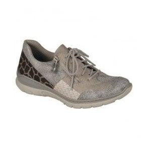 Stingray Grey Lace Up Trainers L3223-40