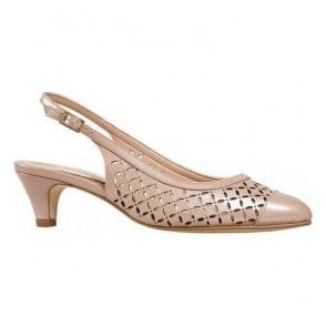Womens Gale Blush Pearlised Patent Court Shoes