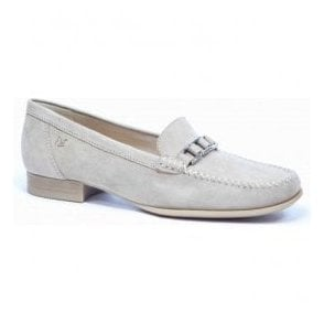 Womens Beige Slip On Moccasins 9-9-24251-26 404