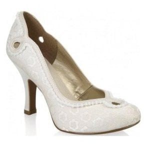 Womens Miley Cream High Heel Court Shoes