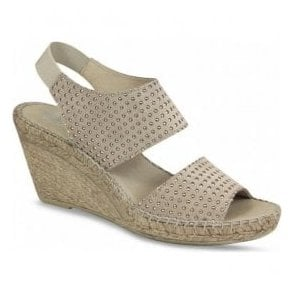 Womens Becca Taupe Studded Espadrilles