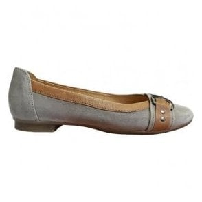 Womens Indiana Taupe/Brown Slip On Shoes 84.113.19