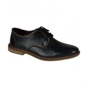 Mens Clarino Black Lace Up Shoes 13422-01