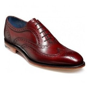 Mens Jensen Cherry Calf Lace-Up Brogue Shoes