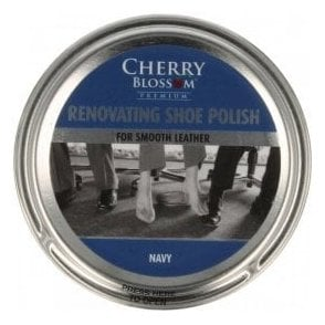 Premium Navy Renovating Shoe Polish