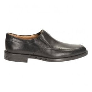 Mens Unbizley Lane Black Leather Formal Shoes