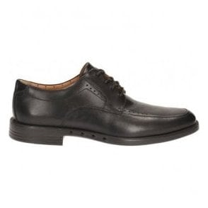 Mens Unbizley View Black Leather Formal Shoes