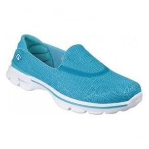 Womens Go Walk 3 Turquoise Walking Shoes 13980