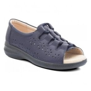 Womens Coast 2 Navy Back In Lace Sandals