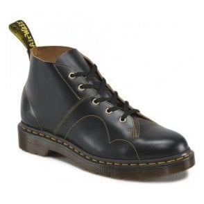 Unisex Church Black Vintage Monkey Boots 16054001