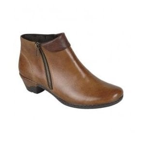 Cristallin Brown Zip Ankle Boots 76961-24