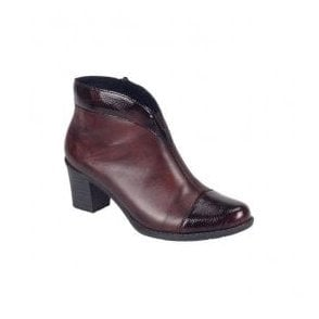 Luxor Burgundy/Burgundy Patent Ankle Boots Z7664-35