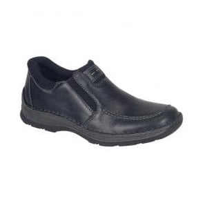 Bega Black Twin Gusset Slip On Shoes 05350-00