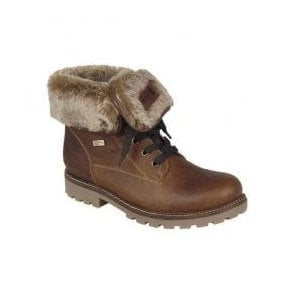 Womens Pure Brown Two-Way Waterproof Boots D7474-24