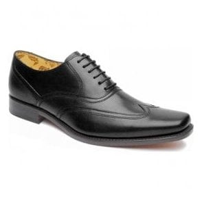 Mens Snipes Black Leather Lace Up Shoes
