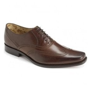 Mens Snipes Brown Leather Lace Up Shoes