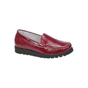 Womens Hegli Red Slip On Twin Gusset Loafers 549001 143 022
