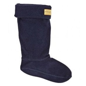 Welton Navy Fleece Welly Socks