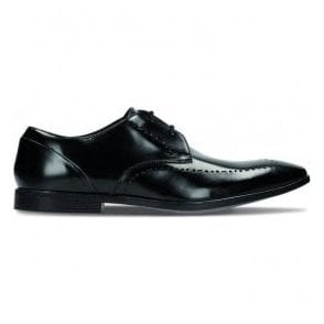 Mens Bampton Limit Black Hi-Shine Leather Formal Shoes