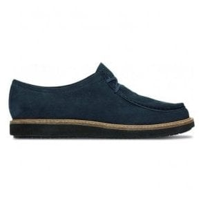 Womens Glick Bayview Navy Nubuck Casual Shoes