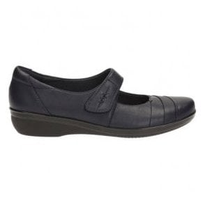 Womens Everlay Kennon Navy Leather Mary Jane Shoes